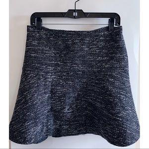 J. Crew Flippy Tweed Skirt, Black White, Size 4